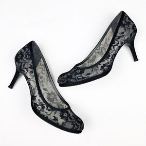 Stuart Weitzman Black Lace Swoon Pumps
